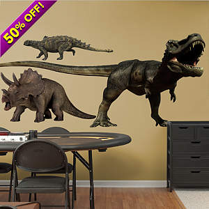 Dinosaurs Group Two Fathead Wall Decal