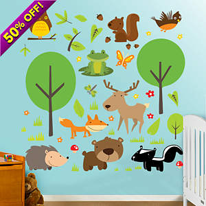 Wildlife Collection Fathead Wall Decal