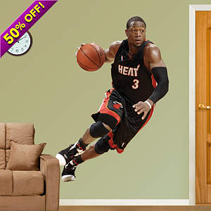Dwyane Wade Drives Fathead Wall Decal