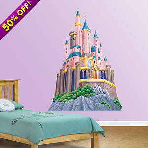 Disney Princess Castle Fathead Wall Decal
