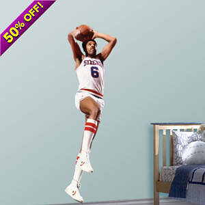 Julius Erving Fathead Wall Decal