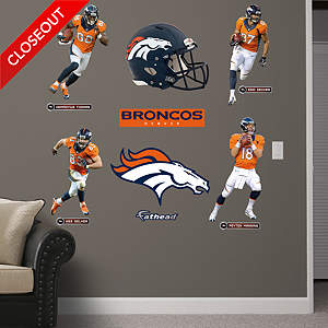 Denver Broncos Power Pack - 2013 Fathead Wall Decal
