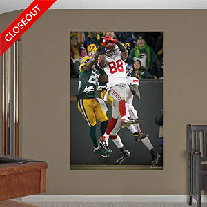 Hakeem Nicks Hail Mary Catch - In Your Face Mural Fathead Wall Decal
