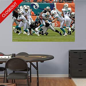 Miami Dolphins Ground Game Mural Fathead Wall Decal