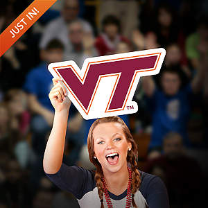 Virginia Tech Hokies Logo Big Head Cut Out
