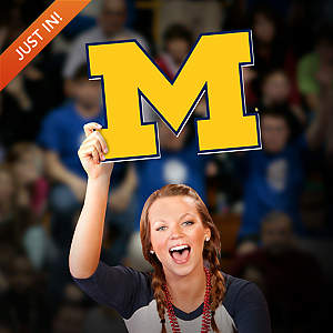 Michigan Wolverines Logo Big Head Cut Out