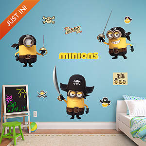 Minions Pirates Collection Fathead Wall Decal