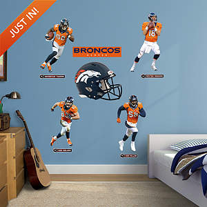 Denver Broncos Power Pack Fathead Wall Decal