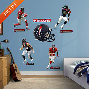 Houston Texans Power Pack Fathead Wall Decal