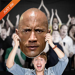 The Rock Big Head Cut Out