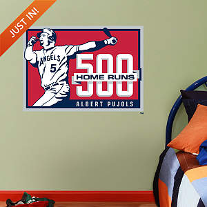 Albert Pujols 500th Home Run Logo - Fathead Jr Fathead Wall Decal