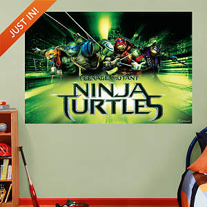 Teenage Mutant Ninja Turtles Movie Mural Fathead Wall Decal