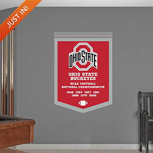Ohio State Buckeyes - NCAA Football National Championship Banner Fathead Wall Decal