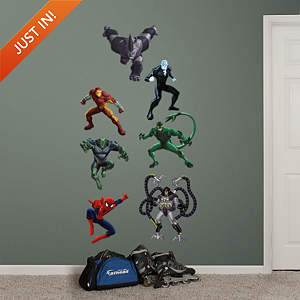 Ultimate Spider-Man Villains Collection Fathead Wall Decal
