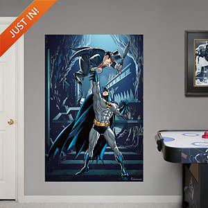 Batman and Penguin Mural Fathead Wall Decal
