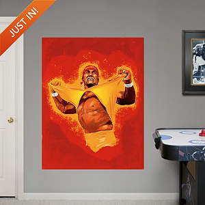 Hulk Hogan Illustrated Mural Fathead Wall Decal