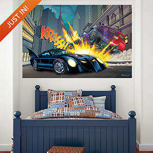 Batmobile Crash Mural Fathead Wall Decal