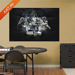 Seattle Seahawks Secondary Mural Fathead Wall Decal