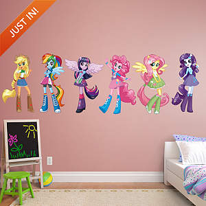 My Little Pony Equestria Girls Collection Fathead Wall Decal