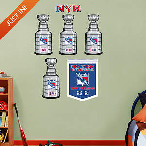 New York Rangers Stanley Cup Collection Fathead Wall Decal