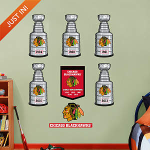 Chicago Blackhawks Stanley Cup Collection Fathead Wall Decal