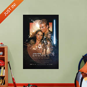 Star Wars Episode II: Attack of the Clones Movie Poster Mural Fathead Wall Decal