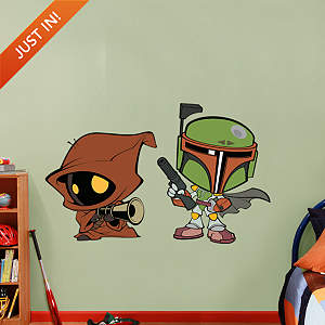 Boba Fett & Jawa POP! Fathead Wall Decal