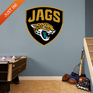 Jacksonville Jaguars Shield Logo Fathead Wall Decal