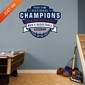 UConn Huskies Men's Basketball Legacy Logo Fathead Wall Decal