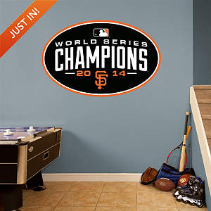 San Francisco Giants 2014 World Series Champions Logo Fathead Wall Decal