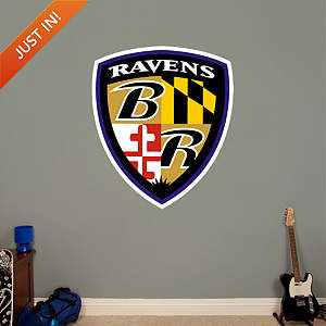 Baltimore Ravens Shield Logo Fathead Wall Decal
