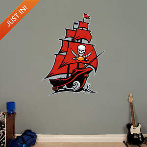 Tampa Bay Buccaneers Pirate Ship Logo Fathead Wall Decal