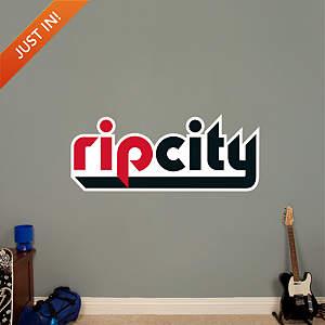 Portland Trail Blazers Rip City Logo Fathead Wall Decal