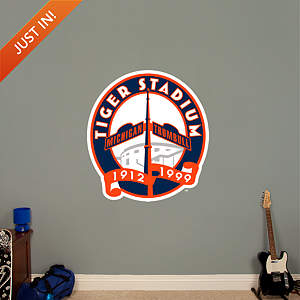 Tiger Stadium Logo Fathead Wall Decal