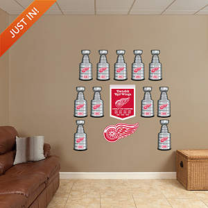 Detroit Red Wings Stanley Cup Collection Fathead Wall Decal