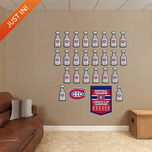 Montreal Canadiens Stanley Cup Collection Fathead Wall Decal