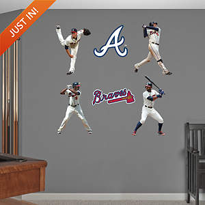 Atlanta Braves Power Pack Fathead Wall Decal