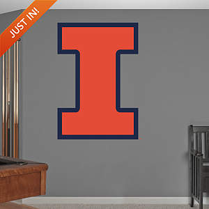 Illinois Fighting Illini Logo Fathead Wall Decal