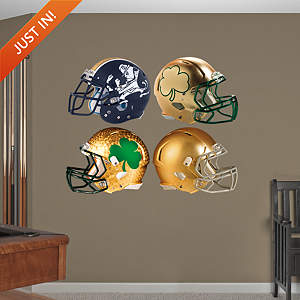 Notre Dame Fighting Irish Helmet Collection Fathead Wall Decal