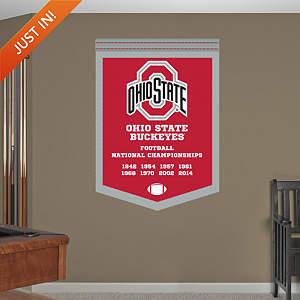 Ohio State Buckeyes National Championship Banner - NCAA Football Fathead Wall Decal