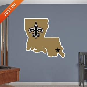 New Orleans Saints Louisiana Logo Fathead Wall Decal