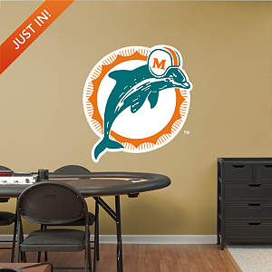 Miami Dolphins Classic Logo Fathead Wall Decal