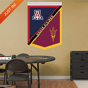 U of A - ASU House Divided Banner Fathead Wall Decal