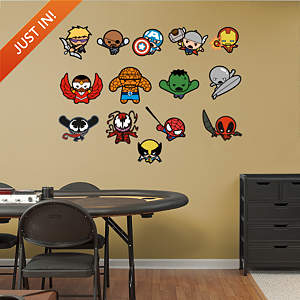 Kawaii Marvel Collection Fathead Wall Decal