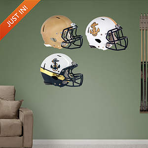 Navy Midshipmen Helmet Collection Fathead Wall Decal