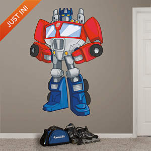 Optimus Prime Rescue Bots Fathead Wall Decal