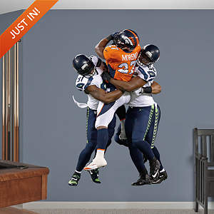 Chris Clemons and Cliff Avril - Super Bowl XLVIII Group Tackle Fathead Wall Decal