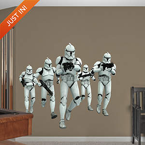 Clone Trooper Group Fathead Wall Decal
