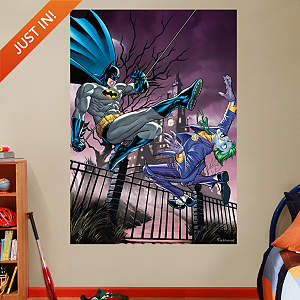 Batman and The Joker Battle Mural Fathead Wall Decal
