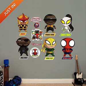 Ultimate Spider-Man Mini Team Collection Fathead Wall Decal